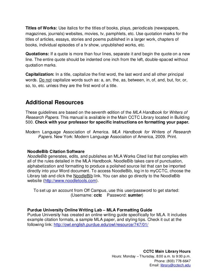 mla format for essays and research papers - Purdue OWL: MLA Formatting ...