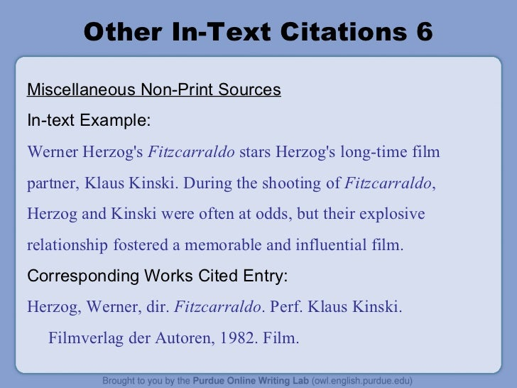 how to add in text mla citation