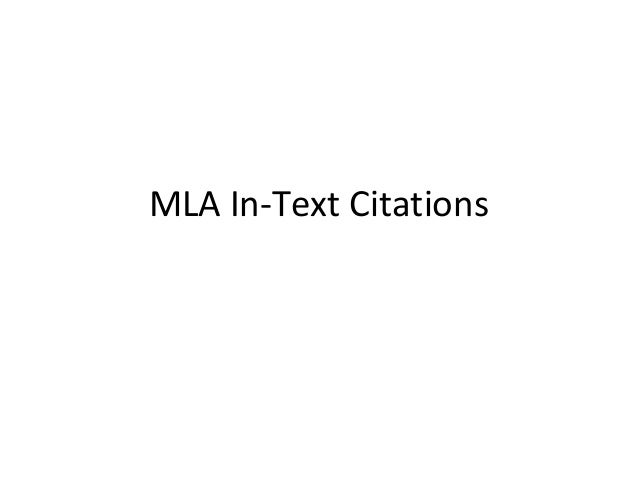 Mla in text citations