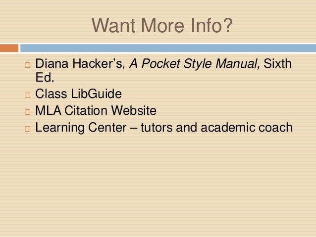 diana hacker thesis