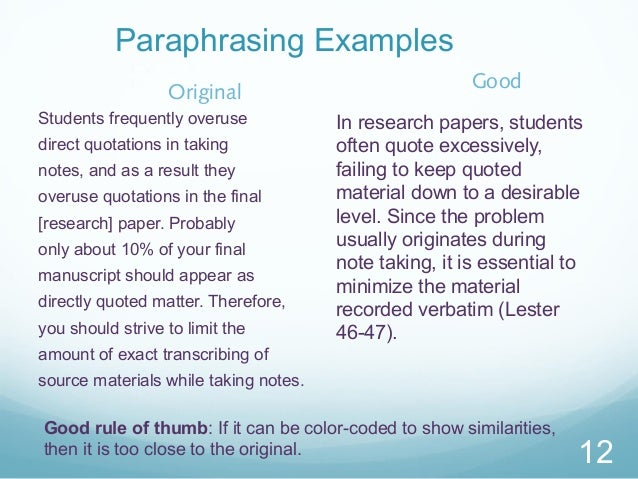 How to cite a paraphrase mla