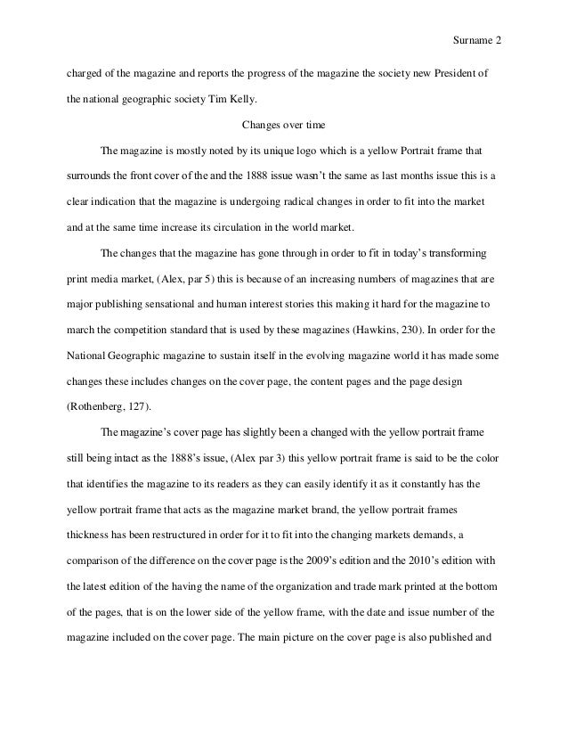 Geography sample term paper