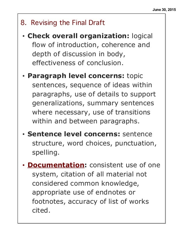 writing tools for revising research paper Look for particular grammatical errors in a paragraph or two of your own work keep a grammar revision journal to track the most common grammatical errors in your writing this is a free tool available through the writing center that can identify and provide feedback regarding grammar, syntax, and spelling errors.