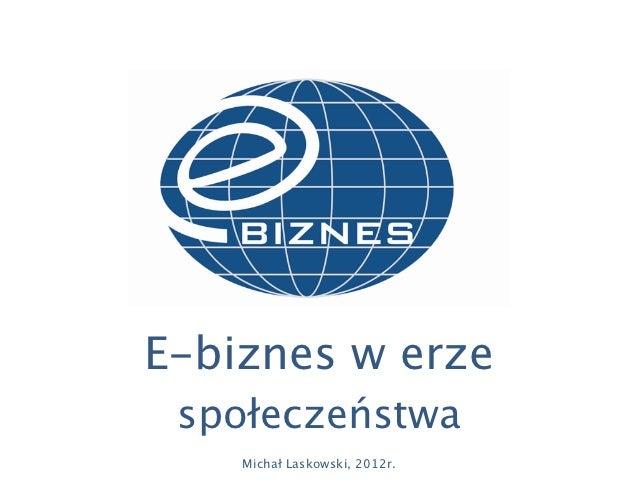 E-biznes w erze Społeczeństwa Informacyjnego