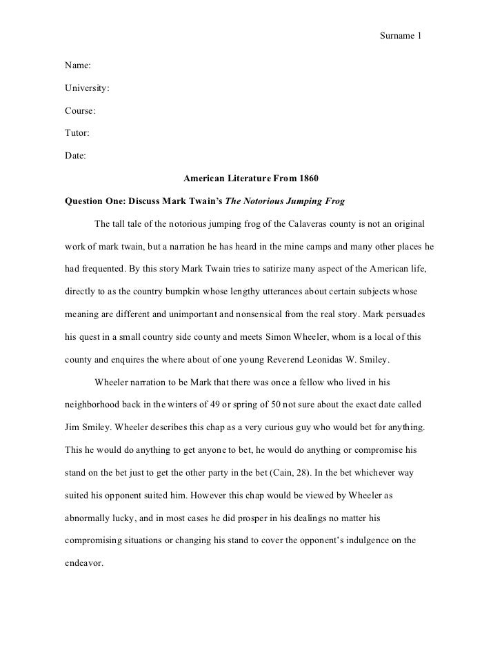 American literature research paper ideas