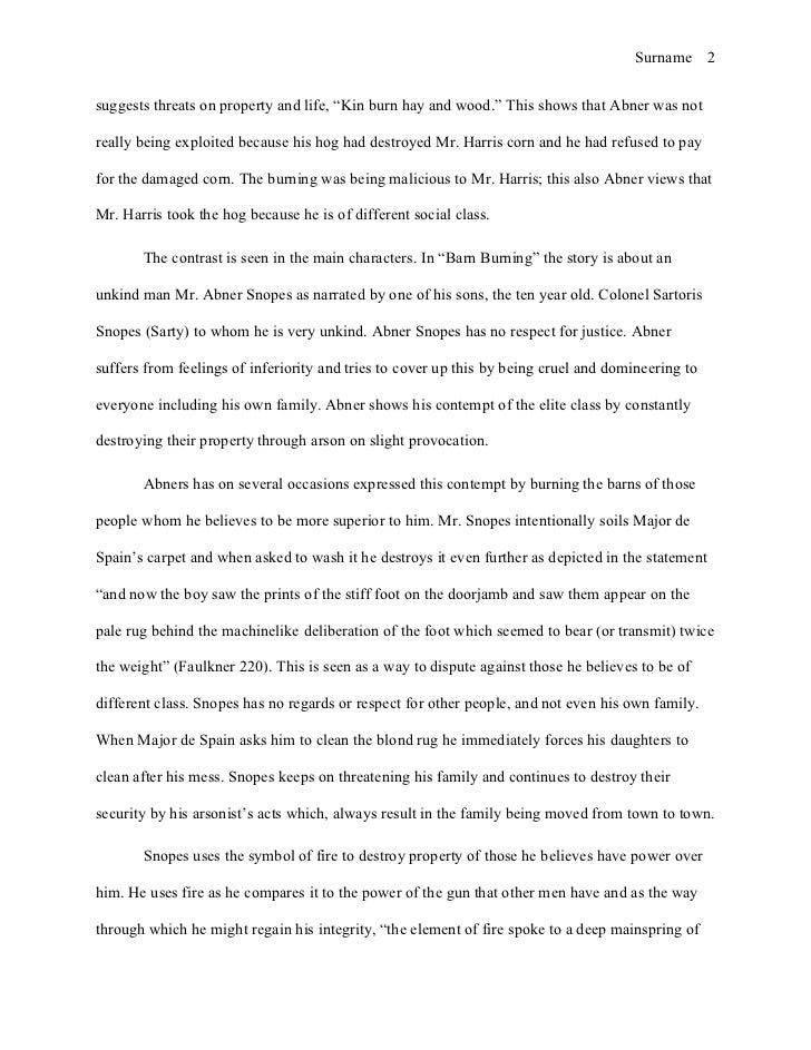 Research paper on the burning barn