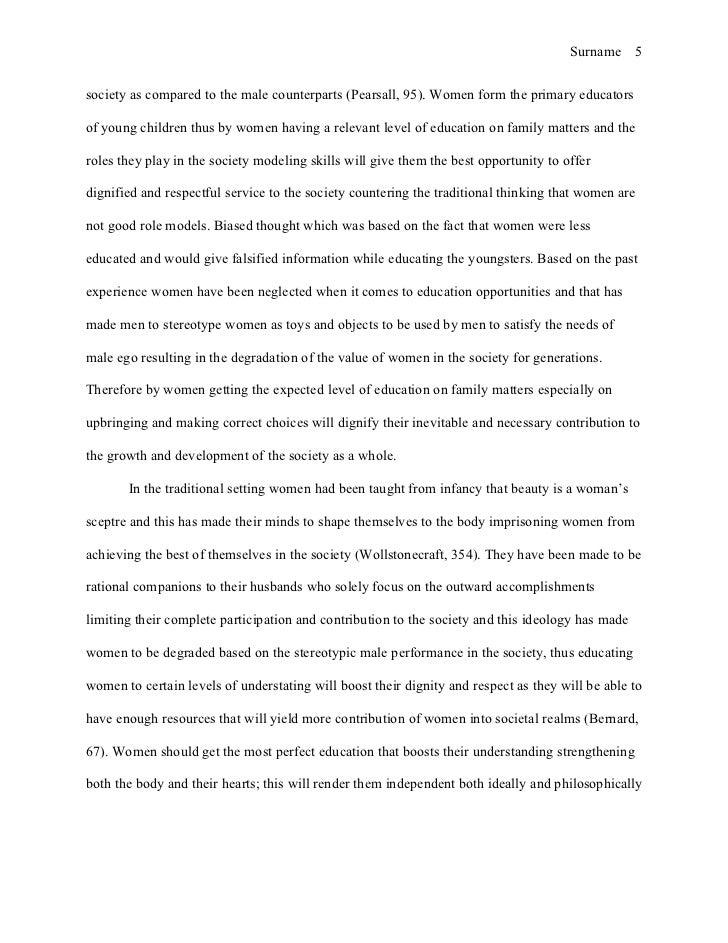 Female education essay