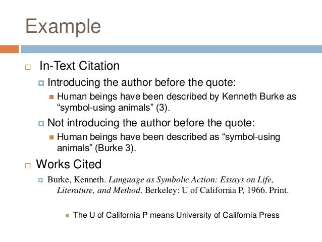 mla style in text citations