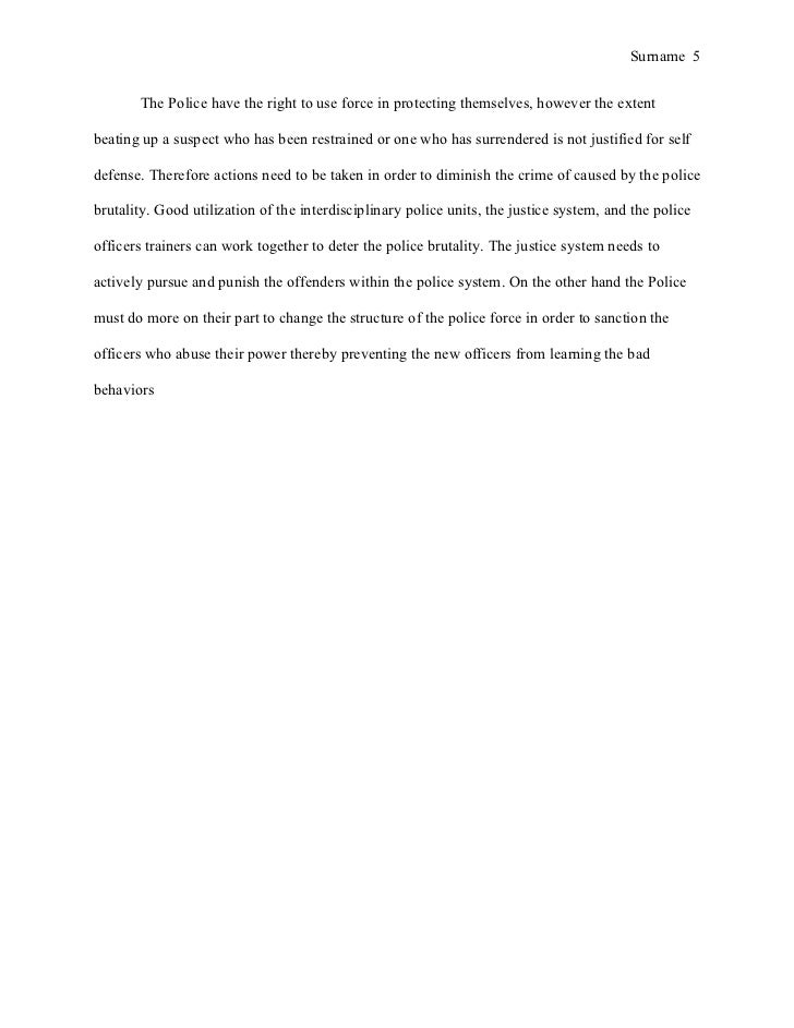Topics to use in an essay on police ethics?