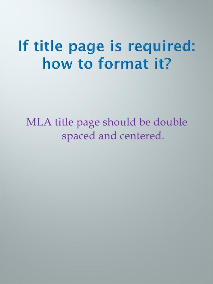 mla 8 title page
