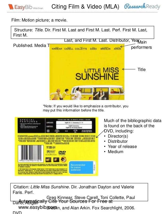 MLA 7 Visual Guide - Films