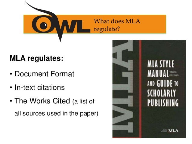 Does anyone know the rules for one work cited in MLA format?