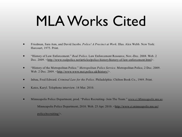 mla format for works cited websites