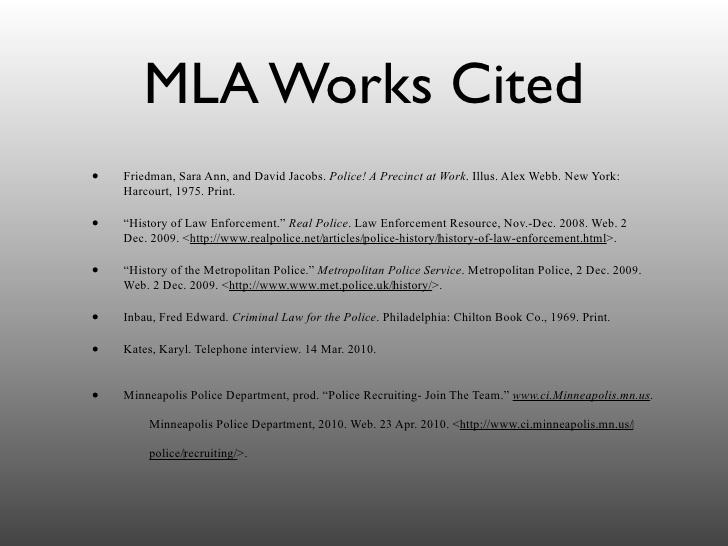 Mla master's thesis