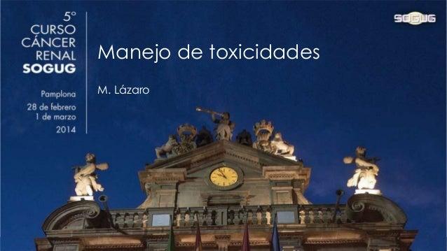 2014-02 Manejo toxicidades nuevos fármacos ca renal