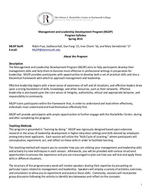 MLDP Program Syllabus
