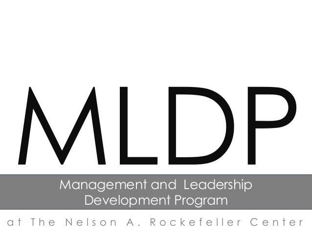Management and Leadership Development Program at The Nelson A. Rockefeller Center