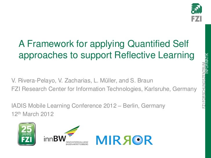 A Framework for applying Quantified Self  approaches to support Reflective Learning                                       ...