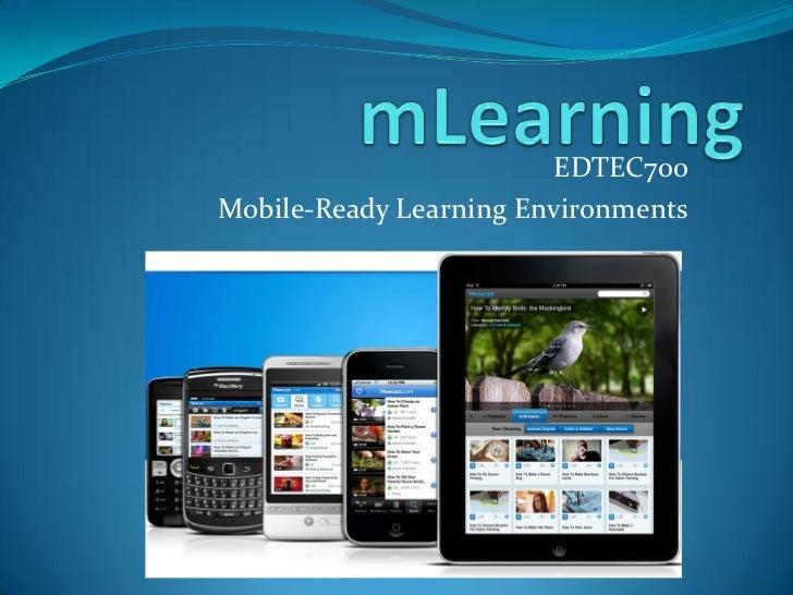 mLearning Exploration EDTEC700