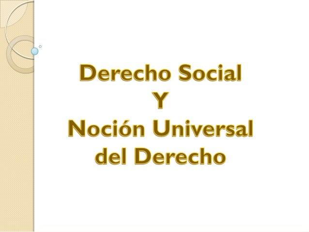 ¿Qué es el Derecho Social?