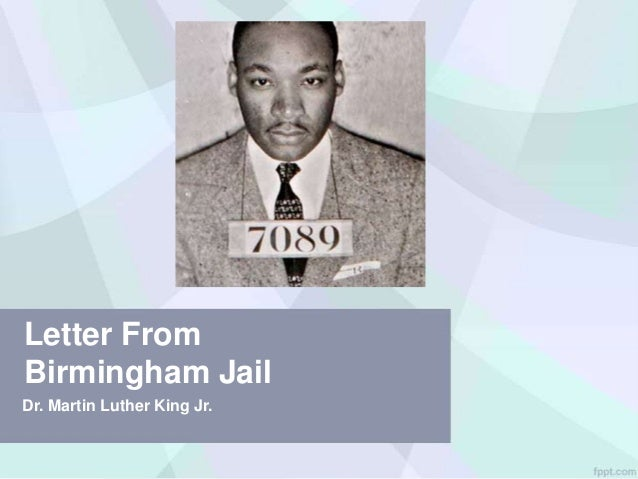 """rhetorical analysis of dr kings letter to birmingham jail Most versions of the """"letter"""" open with an author's note explaining that it was composed as a response to a """"published statement by eight fellow clergymen,"""" while dr king was incarcerated in a birmingham jail as a result, he was forced to initially write the text on newspaper margins."""