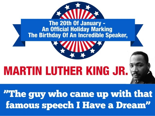 Infographic - A public speaking legend : Martin Luther King Jr.