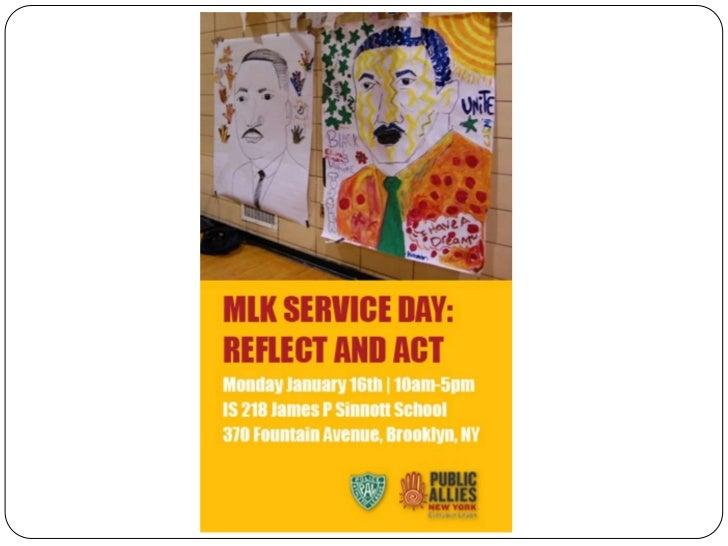 Tweet – #MLKdayPublicAllies         Reflect&Act