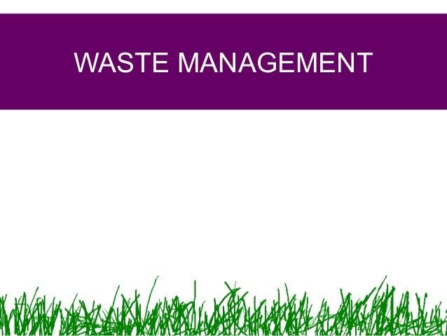 manajemen limbah semseter 1