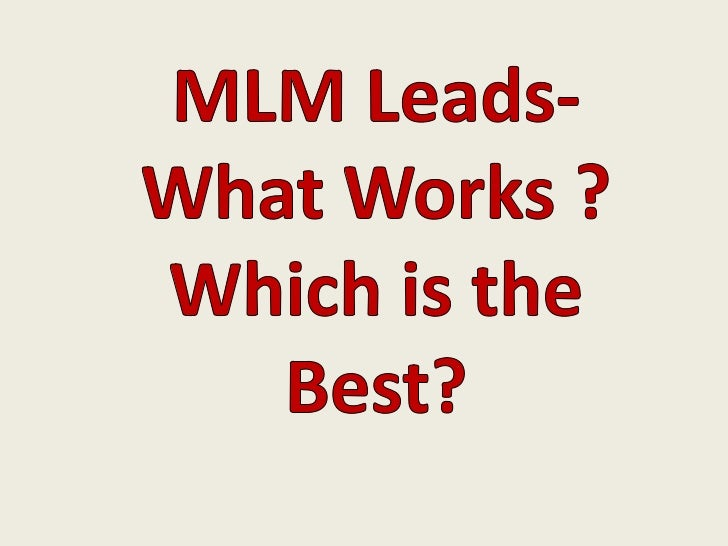 Who is an MLM Business Opportunity       For? It's Not For You If…•   You expect others to do all the work•   You want a g...