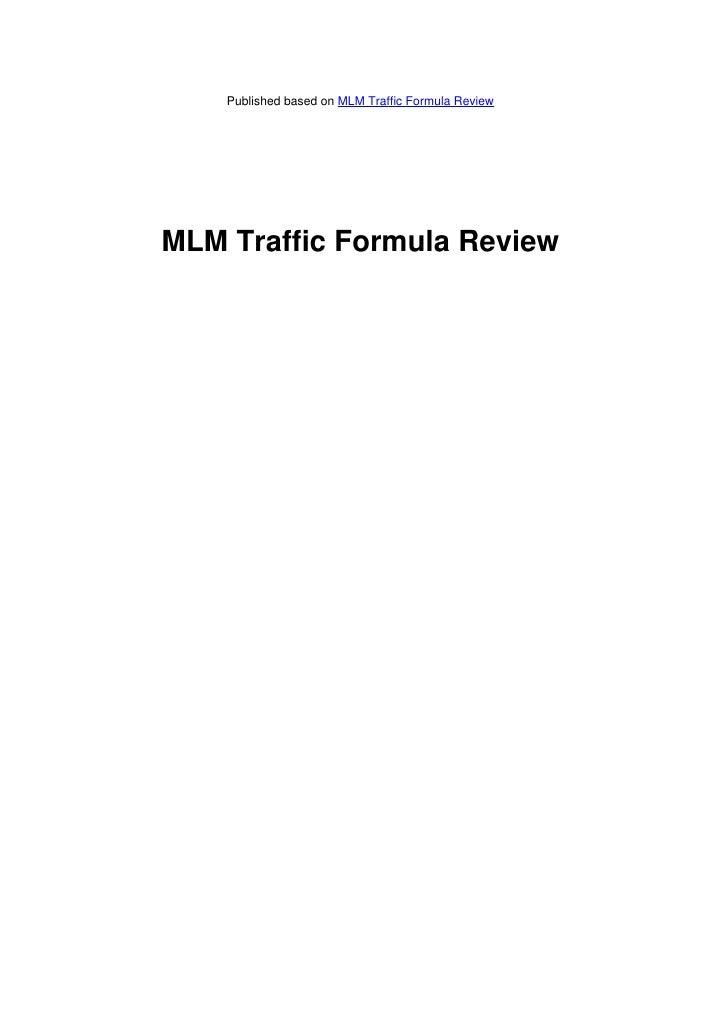 Published based on MLM Traffic Formula ReviewMLM Traffic Formula Review