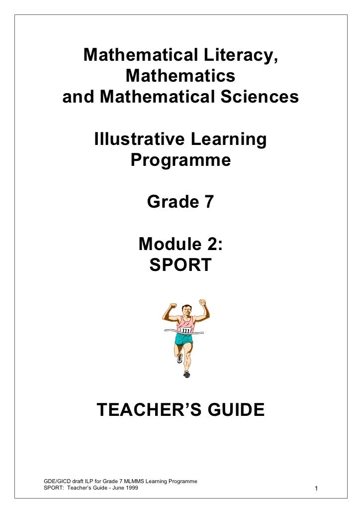 Mathematical Literacy,            Mathematics      and Mathematical Sciences                  Illustrative Learning       ...