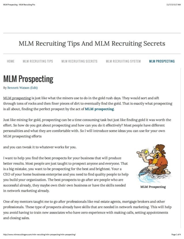MLM Prospecting