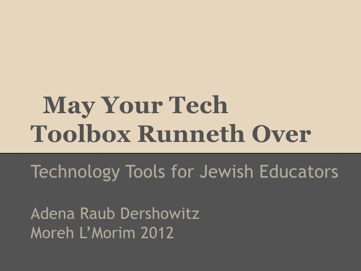 May Your Tech Toolbox Runneth Over