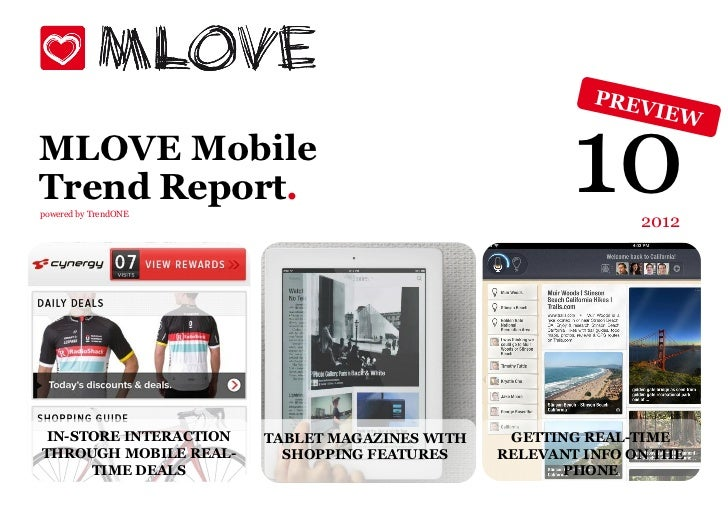 MLOVE MobileTrend Report.powered by TrendONE                                                        10     2012 IN-STORE I...
