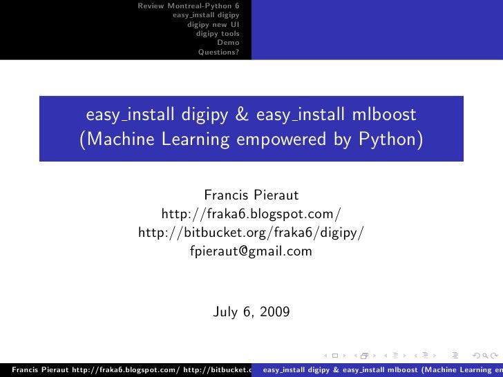 easy_install digipy & mlboost