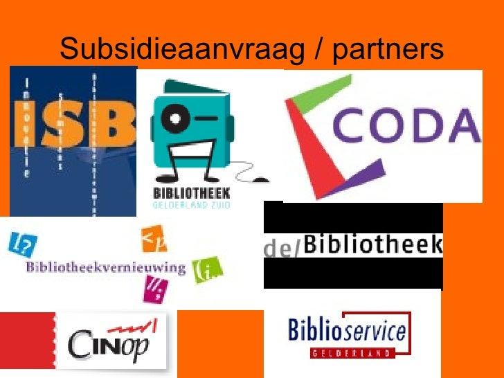 Subsidieaanvraag / partners