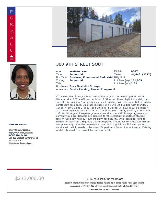 Mls 8307   300 9th street, watson lake - whitehorse real estate