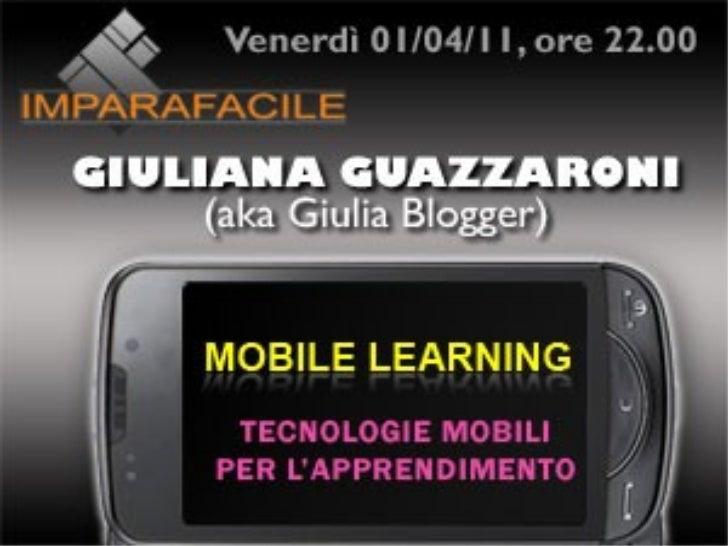 Mobile Learning - Imparafacile