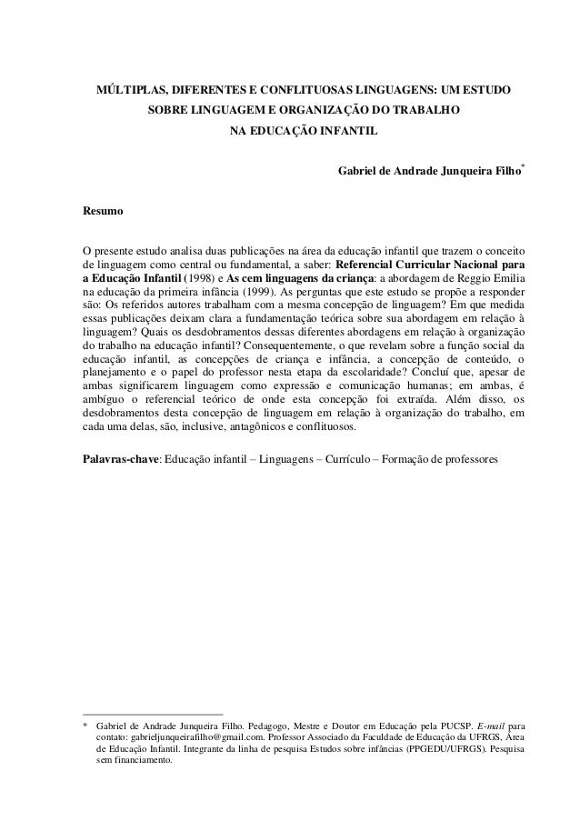 MÚLTIPLAS, DIFERENTES E CONFLITUOSAS LINGUAGENS: UM ESTUDO               SOBRE LINGUAGEM E ORGANIZAÇÃO DO TRABALHO        ...