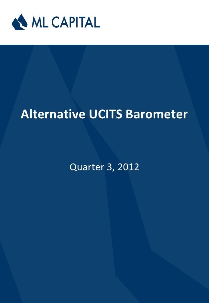 Alternative UCITS Barometer       Quarter 3, 2012