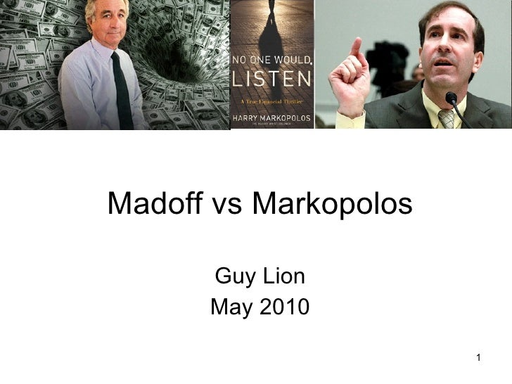 "Madoff $65 billion Trap Gaetan ""Guy"" Lion May 2010"