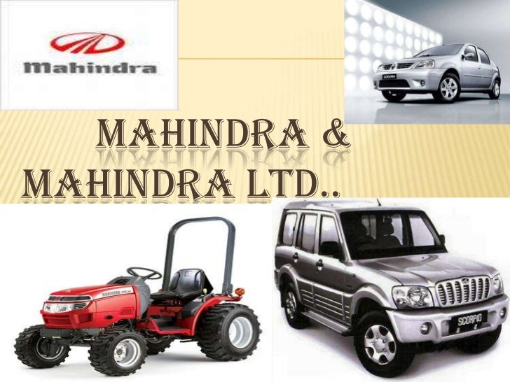 MAHINDRA &MAHINDRA LTD..