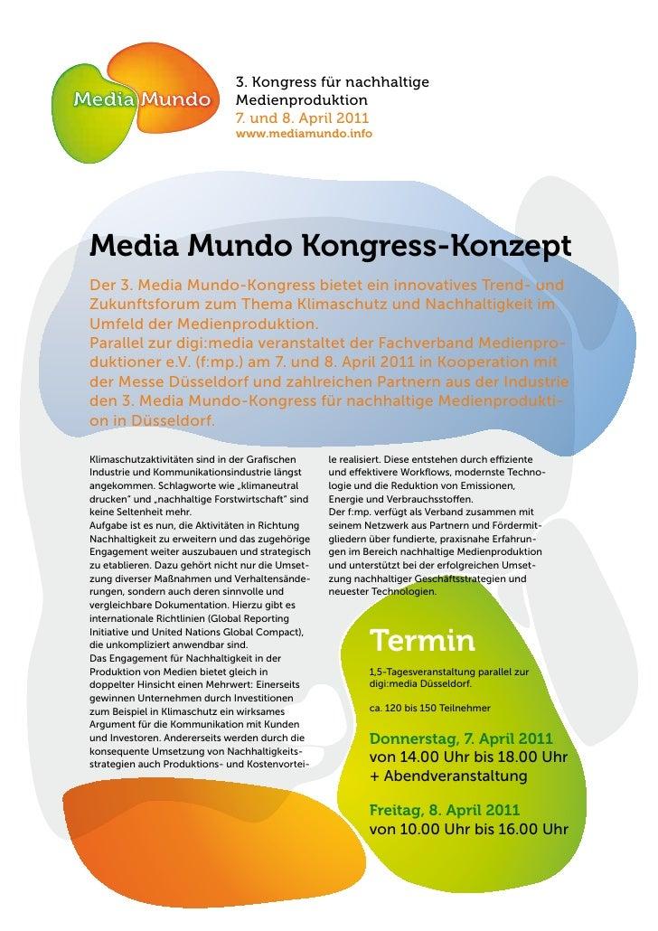 3. Kongress für nachhaltige                               Medienproduktion                               7. und 8. April 2...