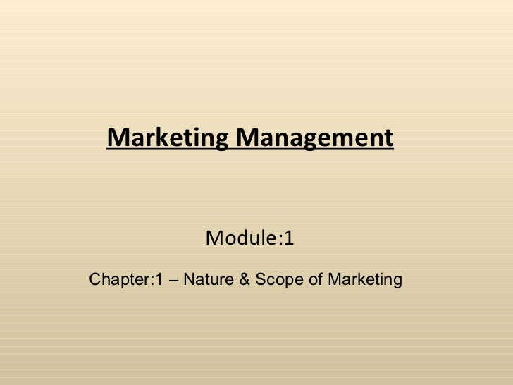 Marketing Manahement