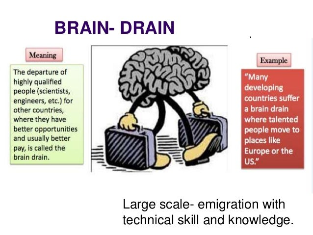 essay on braindrain The brain drain essay sample the biggest disadvantage of brain drain is the depletion of talent from the native nation which may badly need their skills and talent it is the migration of country's intellect which may have otherwise served their motherland and contributed to its prosperity.
