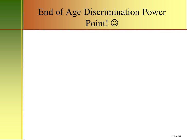 thesis statement on age discrimination It is also possible to write an age discrimination essay, where you could discuss about why age discrimination is necessary in some cases like marriage or drinking a.