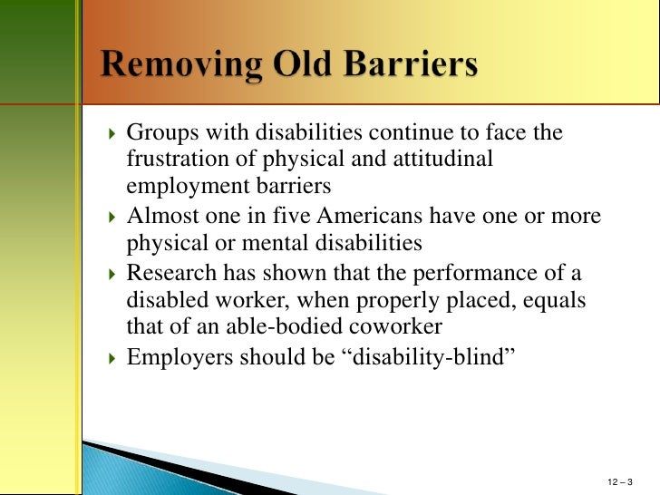 essay on disability discrimination What could be changed to stop discrimination only 45 countries in the world today have anti-discrimination laws that help to protect individuals who have a disability.