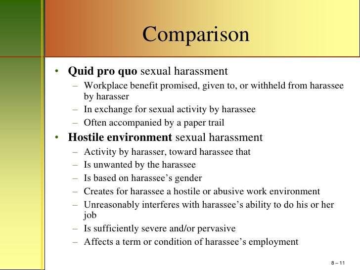 Quid pro quo sexual harassment occurs when quizlet app