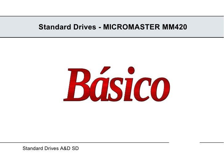 Standard Drives - MICROMASTER MM420 Básico