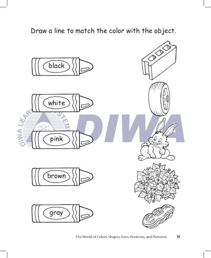 Match Lines on Drawings Draw a Line to Match The Color